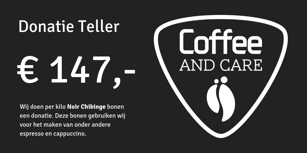 Donatie Teller Coffee and Care